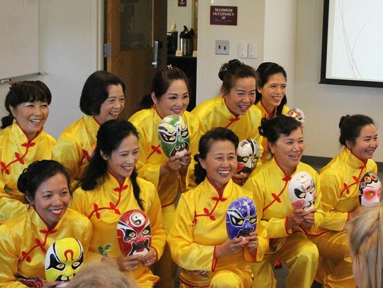 Members of the Atlantic Chinese Community Choir perform