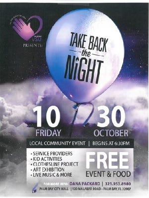 Take Back The Night events connects victims of domestic violence with needed services.