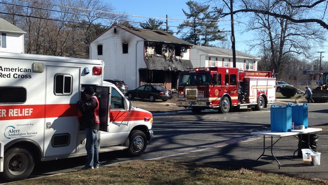 A house on Deptford Road in Glassboro was damaged in a fire Sunday morning.