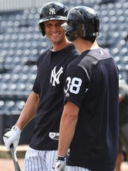 New York Yankees infielder Greg Bird (33) is transferring