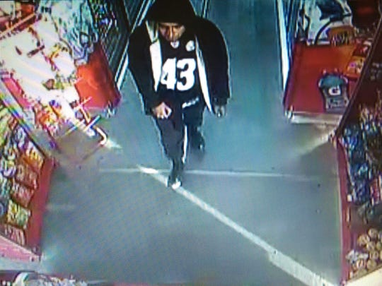 El Paso police are trying to identify suspect in May 28 robbery of Murphy USA gas station at 10655 Gateway West Blvd.