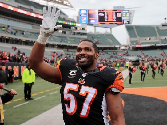 Cincinnati Bengals outside linebacker Vincent Rey (57)
