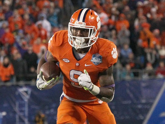 Clemson running back Wayne Gallman rushed for 187 yards on 28 carries versus UNC in the ACC Championship Game last December.