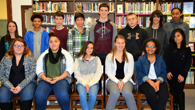 Millville's Memorial High School's Students of the Month for November.