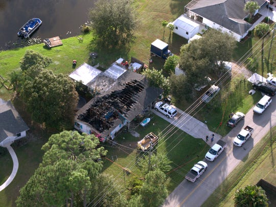 An aerial view of the home on Beach Avenue where Matthew