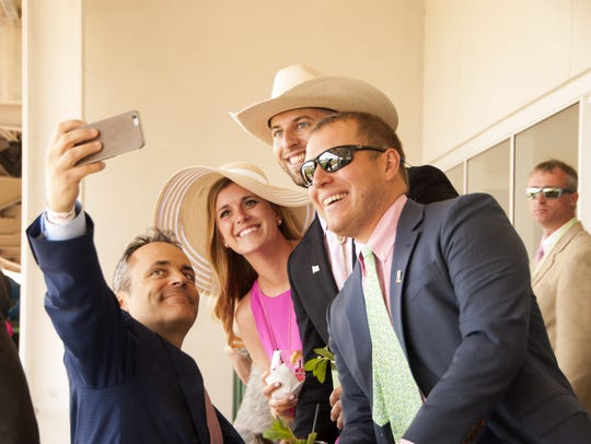 Gov. Matt Bevin takes a selfie with Chelsea Sachs,