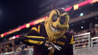 Sparky the mascot logo will be on the ASU football helmets for Saturday's game against Washington State.