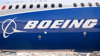 (FILES) This file photo taken on June 18, 2017 shows the Boeing logo on the fuselage of a Boeing 787-10 Dreamliner test plane presented on the Tarmac of Le Bourget. Emirates Airlines on November 12, 2017, agreed to purchase 40 Boeing 787-10 Dreamliners for $15.1 billion, its chief Sheikh Ahmed bin Saeed Al-Maktoum said at the opening of the Dubai Air Show. / AFP PHOTO / ERIC PIERMONTERIC PIERMONT/AFP/Getty Images ORIG FILE ID: AFP_U74PE
