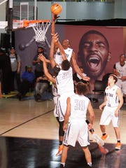 Athletes compete in the Nike Elite Youth Basketball