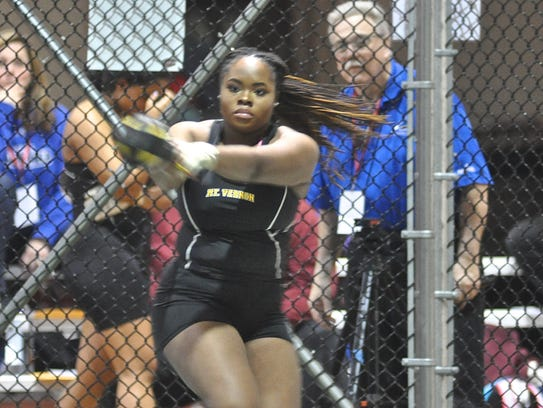 Mount Vernon's Jannah Sharpe takes third place in the