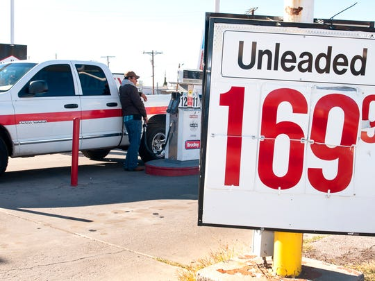 Low gas prices, like here at they Bradley station on El Paseo Rd., have certainly given some people some extra spending cash this Christmas season.
