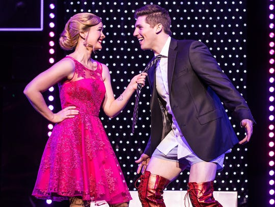 Rose Hemingway and Curt Hansen in the national tour