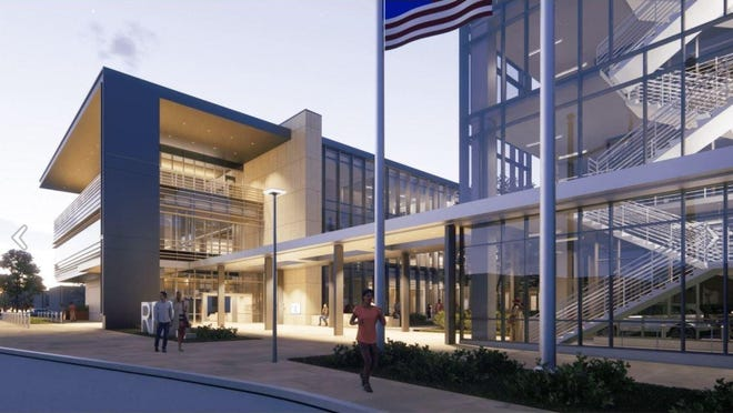 Rendering of the new Round Rock Public Library.