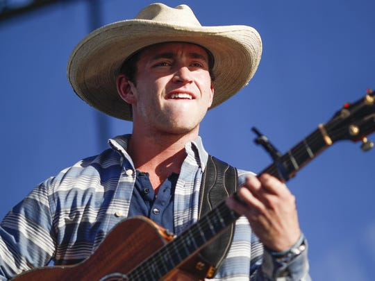 Tyler Dial performs during Day 3 of Country Thunder