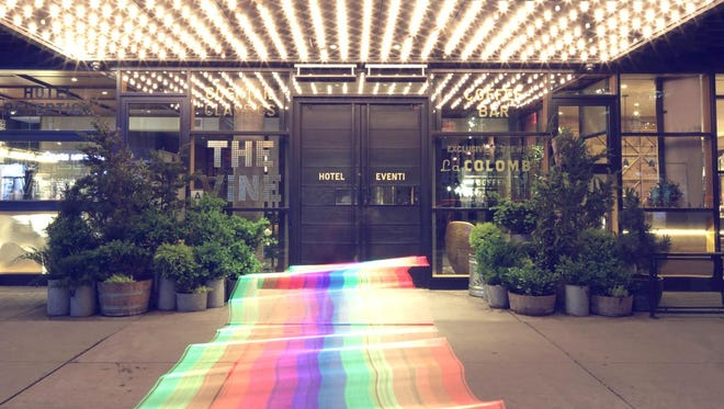 The Hotel Eventi in New York has a rainbow welcome for Pride month.