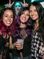 Revelers at EDM show at 1up, in early 2016.