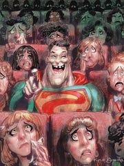 """A Kyle Baker cartoon for DC's """"Bizarro"""" comic book."""