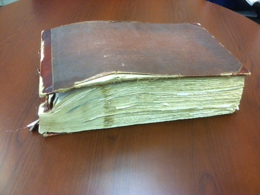 This book of stock certificates dates back to an historic Hanover bank.