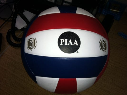 The game ball from Northeastern's state championship match.