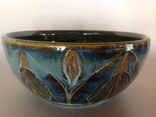Ceramic bowl by Clay Bay Pottery co-owner David Aurelius,