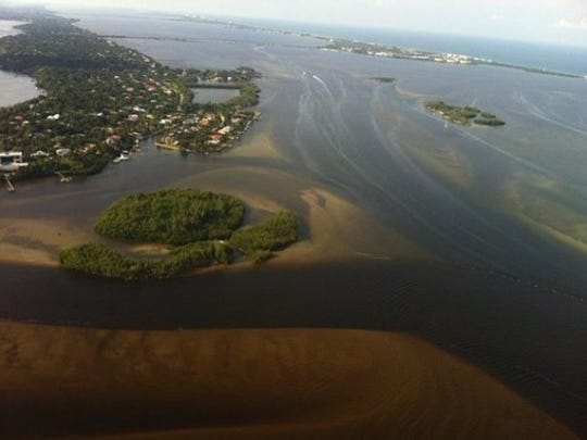 This photo shows muck in the water near the St. Lucie Inlet. (Contributed photo from Jacqui Thurlow-Lippisch)
