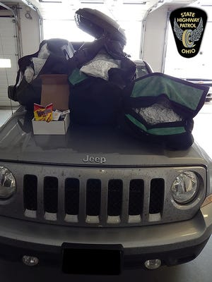 More than 40 pounds of marijuana and other drugs were seized during a recent traffic stop on Interstate 70 in Preble County.