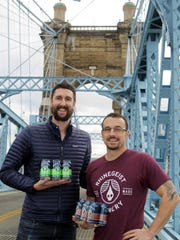 Rhinegeist Brewery co-founders Bob Bonder, right, and Bryant Goulding