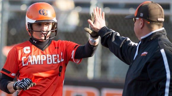 Stephanie Jones is a senior outfielder for the Campbell softball team.