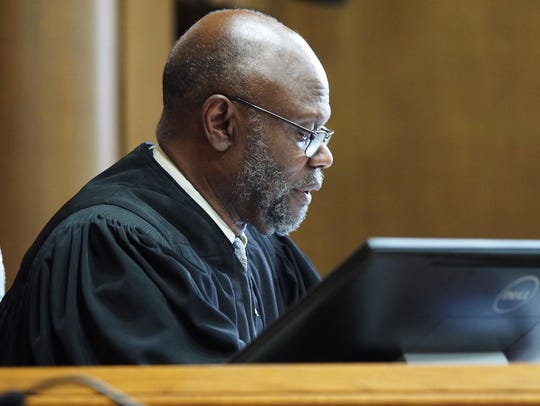 Judge Alexander C. Lipsey presides over a hearing Thursday