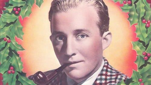 Bing Crosby's Christmas songs album. America's fascination with a white Christmas began with the classic song by Bing Crosby.