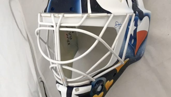 Predators goaltender Pekka Rinne will wear a Texas-themed mask during the team's home opener Oct. 10.
