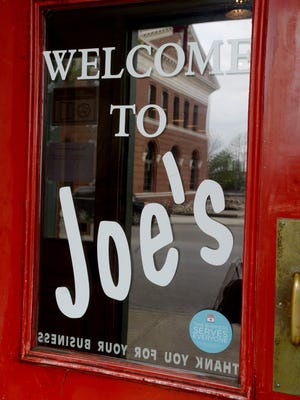 Joe's Pizza Thursday, April 28, 2016, as they prepare to change the layout of the Richmond Depot District restaurant.