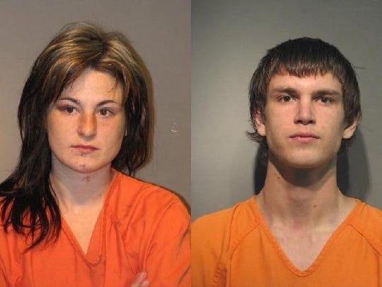 "Kimberly Danielle Oliver (left) and Michael Joseph ""Bo"" Orsborn"