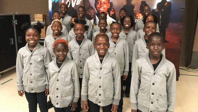 A choir that features orphans from Uganda, an African nation, rehearse on Thursday, September 29, 2016 at Rhodes Grove Camp and Conference Center, south of Chambersburg.