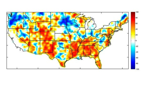 Partners In Crime US Heat Waves Droughts Occuring Together - Us crime map 2015