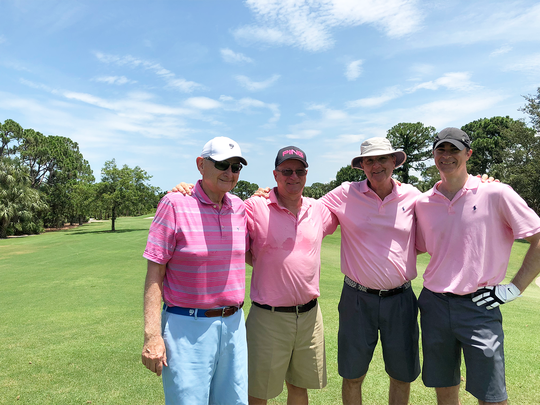 Don Heeter, left, George Dove, John Smith and Jeff