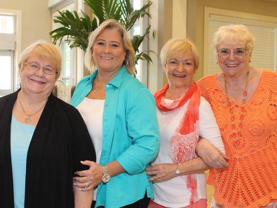 Joyce Burkett (AAUW president), Liz Earman (Renaissance Senior Living), Linda Barker (AAUW past president), and Avalon McGann (AAUW president elect).