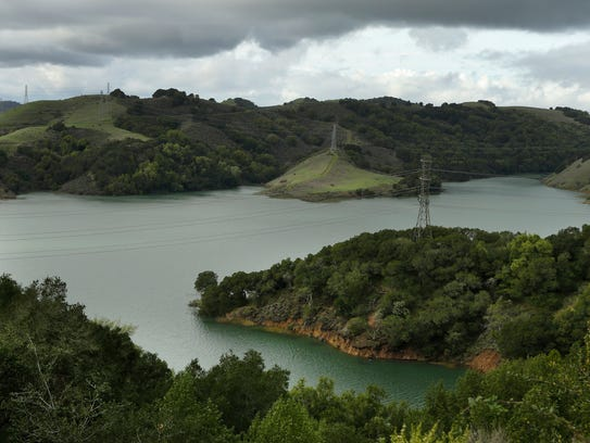 In this Wednesday, Jan. 11, 2017, photo, Briones Reservoir