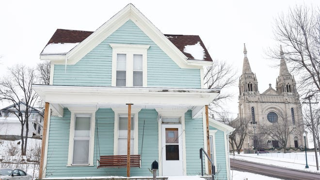 The historic home located at 435 N. Spring Ave in the Cathedral Historic District. Advantage Investments, which owns the property, would like to replace the house with new residential housing but the company is awaiting approval from the Board of Historic Preservation.