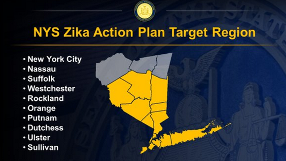 New York is targeting these counties for eradication of the Zika virus