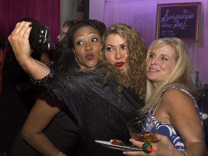 Nothing like a selfie with friends. From left to right: