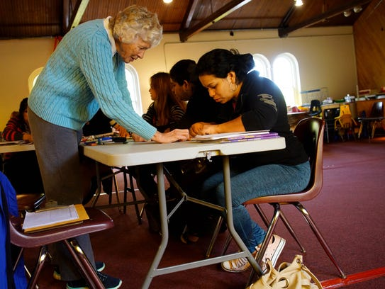 Janet Saunders, a volunteer for Literacy Delaware,