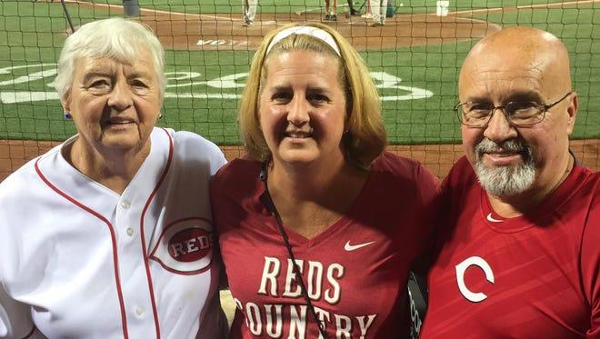 Susan Cathers of Erlanger, center, her boyfriend, Dan Becker, and Susan's mother, Martha Rogers