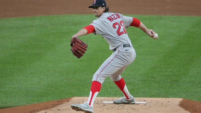 Chris Mazza was called up from Pawtucket and started Sunday night's game for the Red Sox against the Yankees. [USA TODAY Sports / Brad Penner/