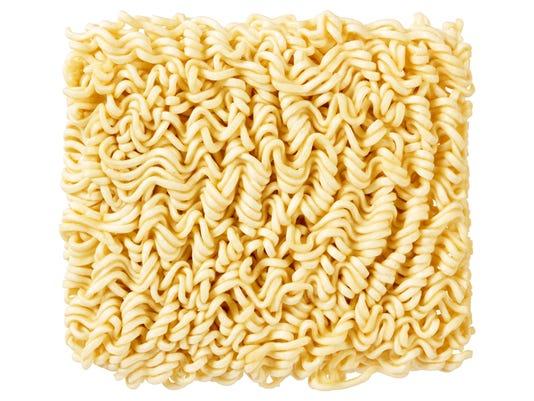 Ramen noodles, uncooked