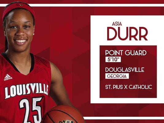 Asia Durr signing pic