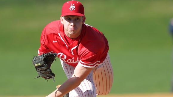 North Rockland pitcher Sean Liquori (17) delivers a