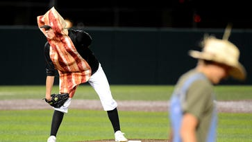 Abilene High-Cooper costume baseball scrimmage a home run