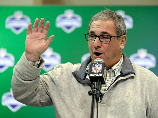Giants GM Dave Gettleman said he'd be willing to trade down if the offer was right.
