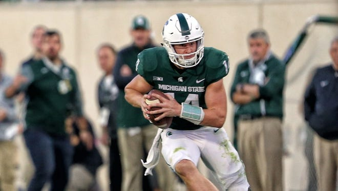 Michigan State quarterback Brian Lewerke.